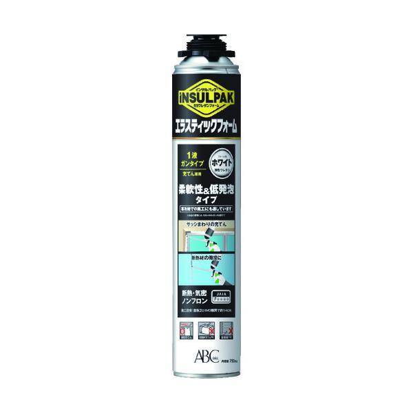 ABC 簡易型発泡ウレタンフォーム1液ガンタイプ 弾性ウレタンフォームインサルパックインサルエラスティックフォーム750mlフォーム色:ホワイト 1本