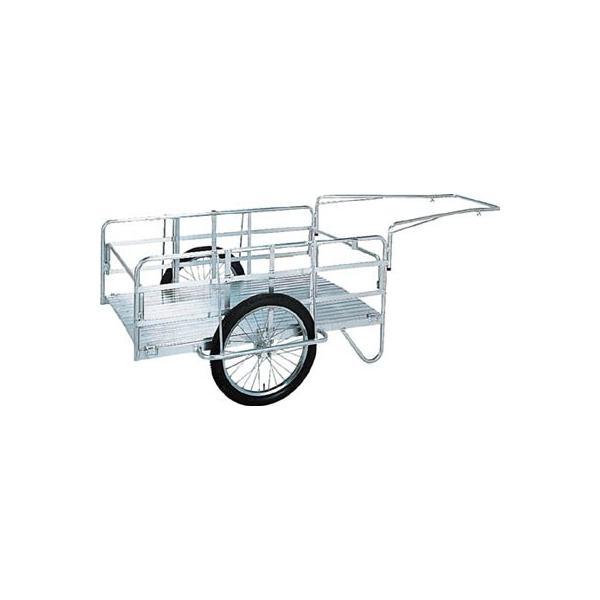 昭和 アルミ折畳みリヤカー 積載面(長さ×幅)900×600mm ノーパンクタイヤ 1台【代引不可・メー直】【別途運賃必要なためご連絡します】