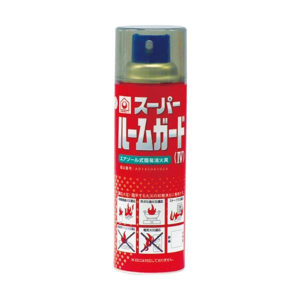 【新型】スプレー式の簡易消火器具 日本ドライケミカル(株) ドライケミカル スーパールームガード NDCSRG4 1本【486-6487】 ganbariya-shop