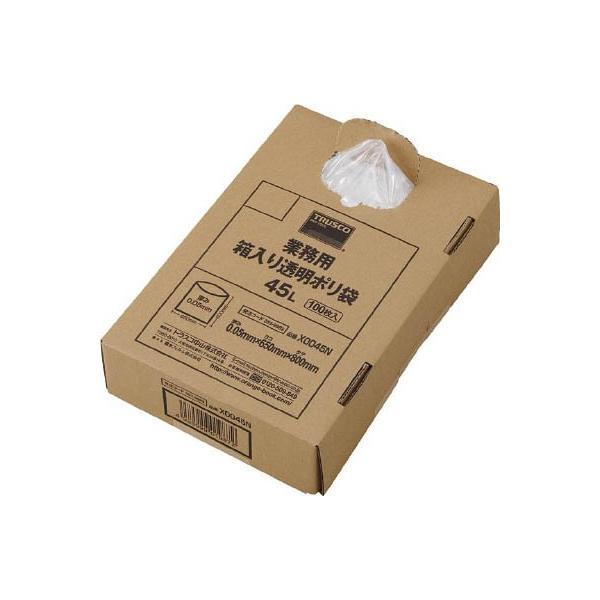 トラスコ中山(株) TRUSCO 業務用ポリ袋 透明・箱入り 0.05X120L 100枚入 X0120N 1箱(100枚入)【488-6437】