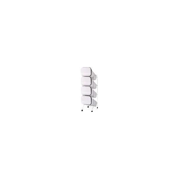 【送料無料】リス(株) リス スムーススタンドダストボックス4Pホワイト GBBH003 1個【代引不可商品】【北海道・沖縄送料別途】