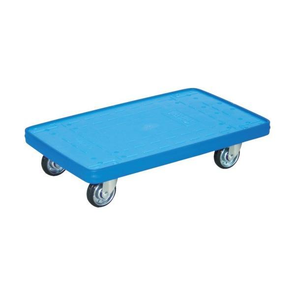 TRUSCO MKP樹脂製台車 平台車 716×436 ブルー MKP165B 1台【代引不可商品・メーカー直送】【法人様方のみのお取扱いとなります】