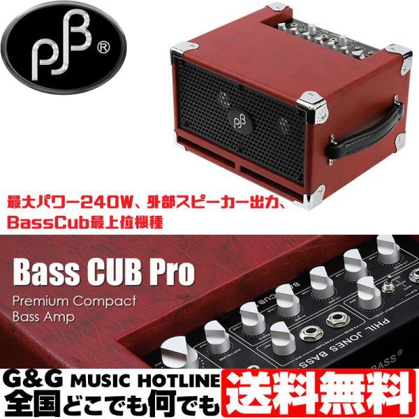 ベースアンプBassCubProRed-赤-最大パワー240W外部スピーカー出力BassCub最上位機種PJBAMP