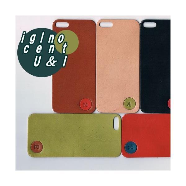 iPhone5s ケース カバー レザーシート ハンドメイド ブランド 正規品 本革 iglnocent イノセント 名入れバージョン 背面カバー スマホ裸族の方も|gansocase|03