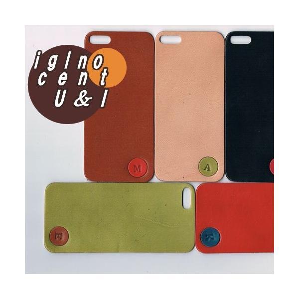 iPhone5s ケース カバー レザーシート ハンドメイド ブランド 正規品 本革 iglnocent イノセント 名入れバージョン 背面カバー スマホ裸族の方も|gansocase|04