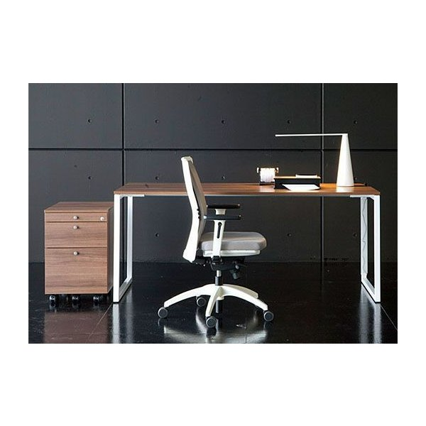 オフィス家具 Garage fantoni GXデスク用サイドワゴン 3段 濃木目 W420×D570 GX-046W3 414233 サイドキャビネット オフィスデスク おしゃれ (イタリア製)|garage-murabi|02
