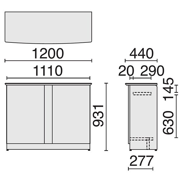 オフィス家具 ハイカウンター1200 ホワイトのおしゃれな受付カウンター デザイン 事務所用受付カウンター|garage-murabi|02