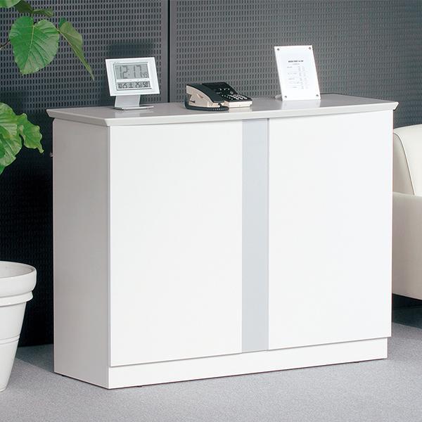 オフィス家具 ハイカウンター1200 ホワイトのおしゃれな受付カウンター デザイン 事務所用受付カウンター|garage-murabi|03