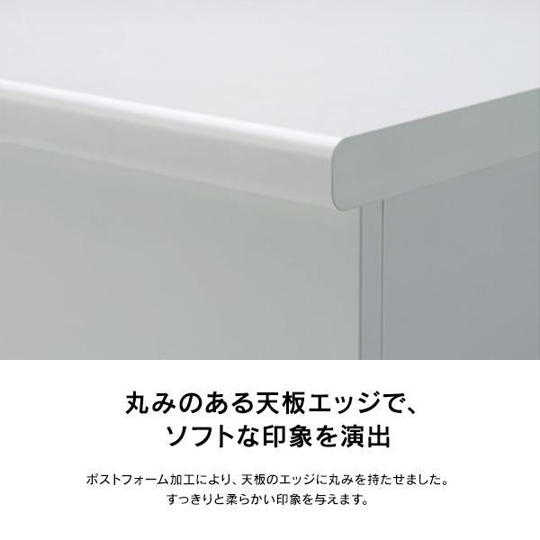 受付カウンターデスク 1800 組立て設置迄 DKシリーズ ホワイト/ホワイト インフォメーションタイプ DK-18HI-W4 garage-murabi 03
