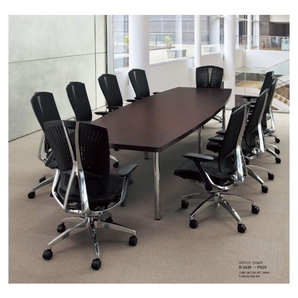 高級ミーティングテーブル 重厚43mm ボート型天板 W2400×D1200mm DXM-2412B  椅子は別売|garage-murabi|02