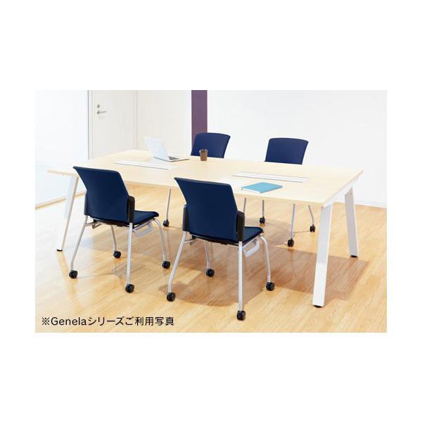 組立・設置迄 Genelaシリーズ ミーティングテーブル W2400×D1225×H720mm PLUS GE-2412M T2/BK J664473|garage-murabi|03