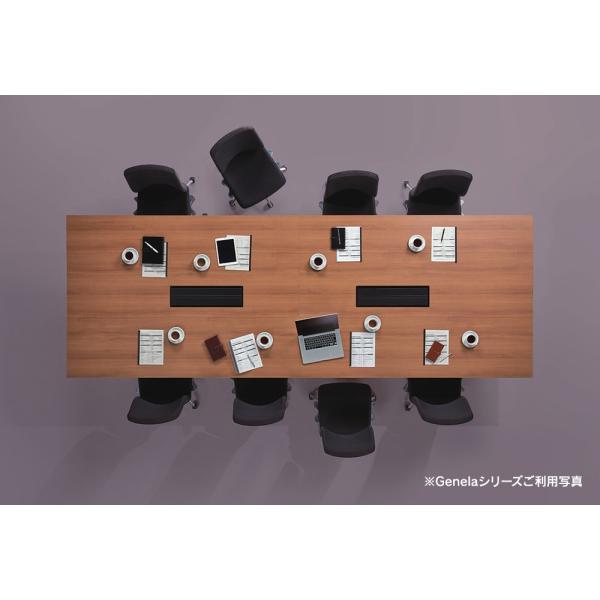 組立・設置迄 Genelaシリーズ ミーティングテーブル W2400×D1225×H720mm PLUS GE-2412M T2/BK J664473|garage-murabi|05