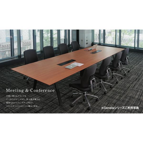 組立・設置込 Genelaシリーズ ミーティングテーブル W2400×D1225×H720mm PLUS GE-2412M W4/W4 J664470|garage-murabi|04