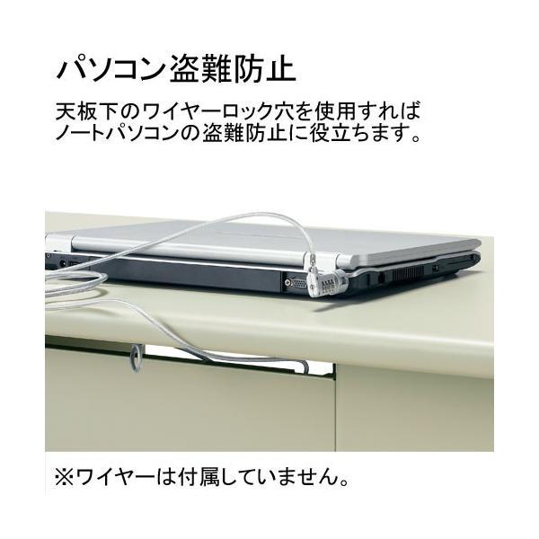 両袖机 日本製 RJデスクII プラス W1600*700 組立設置付 ホワイトも 事務机 RJ-167D-33 WH LGY|garage-murabi|02