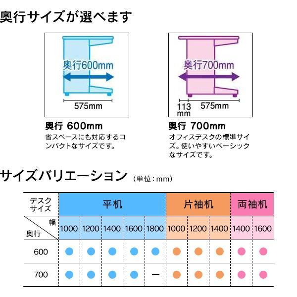 平机 天板メープル 組立設置付RJデスクII プラス W1200*600 RJ-126H WM 事務机 日本製|garage-murabi|03