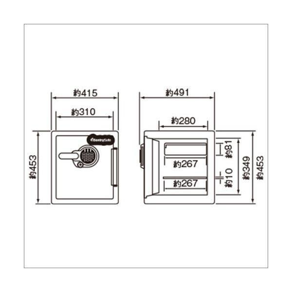 【送料・設置費含む】一戸建て2階上も。耐水・◆ダイヤル式 セントリー耐火金庫 JFW123DE 33.6L 39kg 家庭用金庫 火災保障付 Sentry|garage-murabi|06