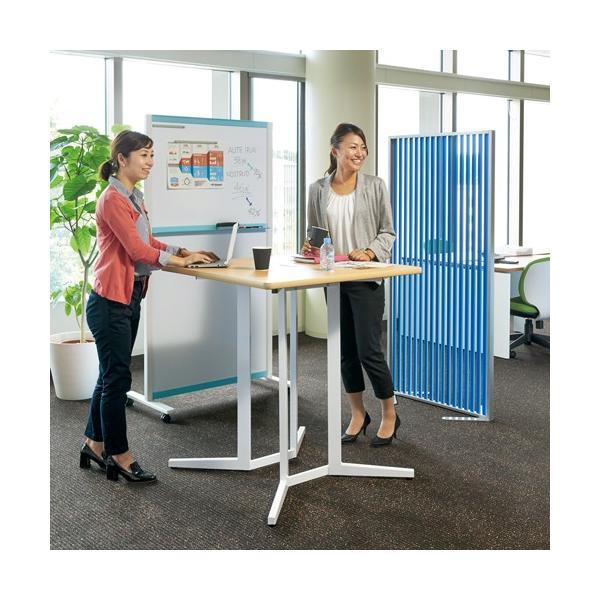 ハイテーブル KHH-0909-WH ホワイト リフレッシュテーブル 900×900 H1000 送料無料|garage-murabi|05