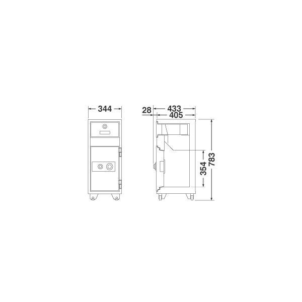 安心・設置まで/ 投入式耐火金庫 【設置迄無料】80kg エーコー 夜間金庫・ PD-20PP  PD-20 即納目標 |garage-murabi|03