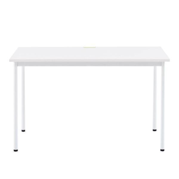 SHシンプルテーブル W1200×D700 ホワイト/キャップ3色付 Z-SHST-1270WHW デスク ワークテーブル オフィス 机|garage-murabi|02