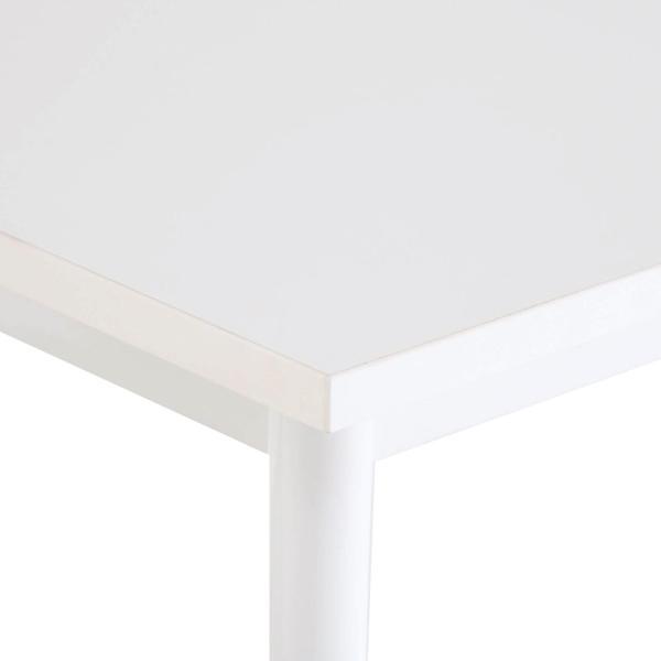 SHシンプルテーブル W1200×D700 ホワイト/キャップ3色付 Z-SHST-1270WHW デスク ワークテーブル オフィス 机|garage-murabi|03