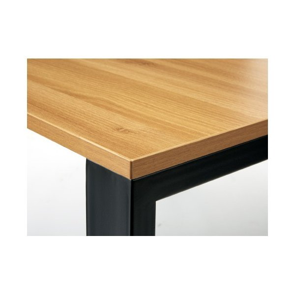 PLUS増連型ミーティングテーブル W4800×D1200mm ナチュラル 配線ボックス有 MR-4812SQH NA/BK フリーアドレス ワイドテーブル|garage-murabi|03