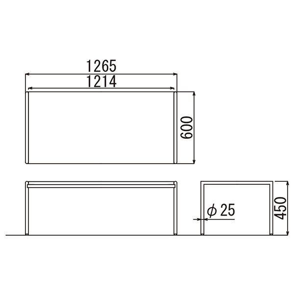 事務所応接セット プレッグ 4点セット アイボリー/ブラック ビニールレザー AICO RE-1581 RE-1583|garage-murabi|07
