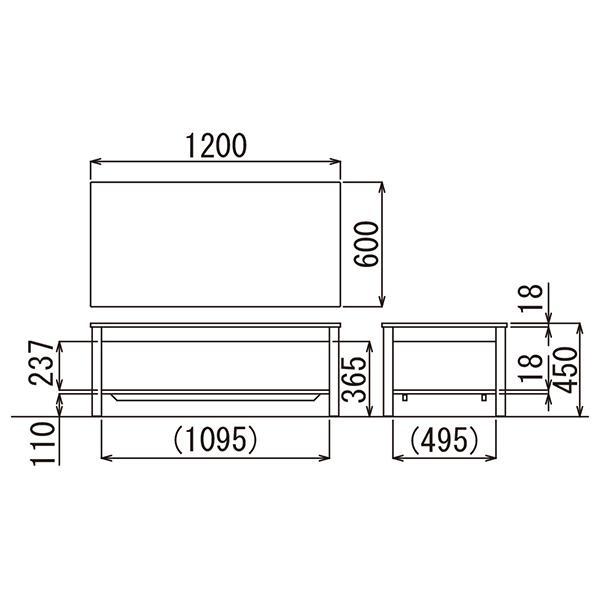 4/4テーブル在切:事務所応接 4点セット スターブ ロビーチェアとセンターテーブルセット ブラック/ダークブラウン  ビニールレザー RE-1741 RE-1743|garage-murabi|09