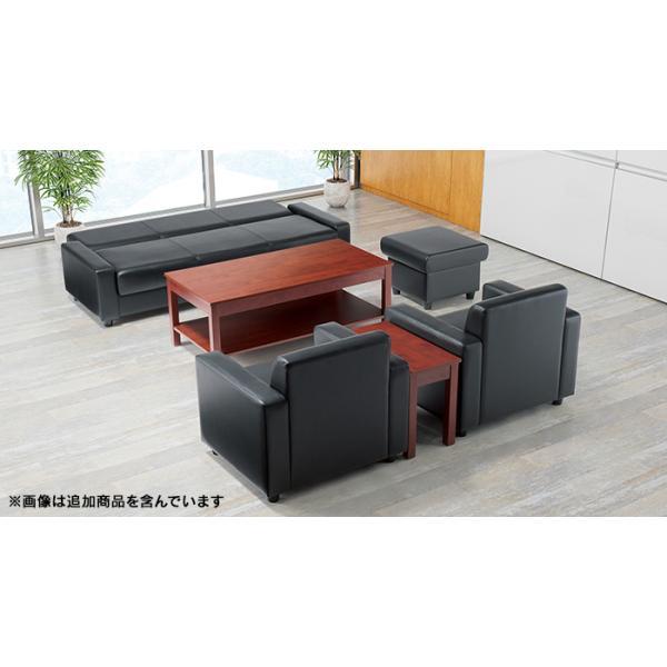 AICO アテッサ 応接セットでソファ ベッドに RE-1813 BK 黒ブラック  簡易ベッド 仮眠ベッド|garage-murabi|03