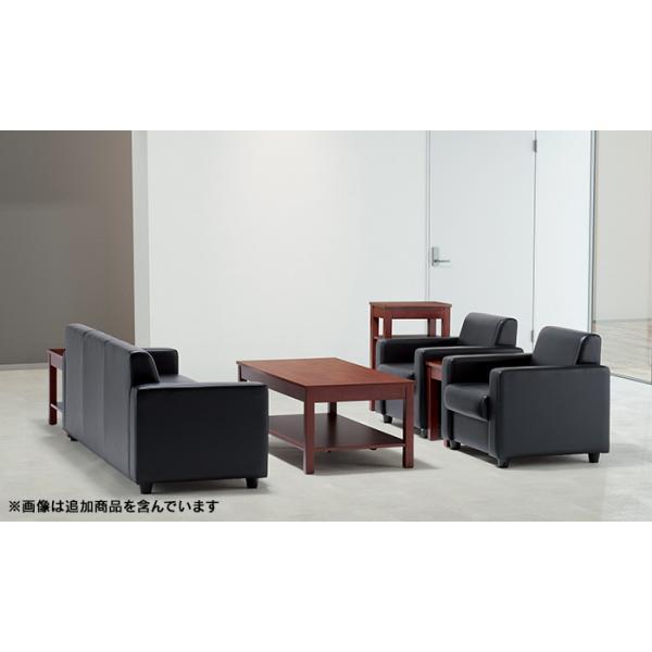 即納目標商品 アテッサ応接4点セット RE-1841 RE-1843-set 黒/ブラウン ビニールレザー張り|garage-murabi|07