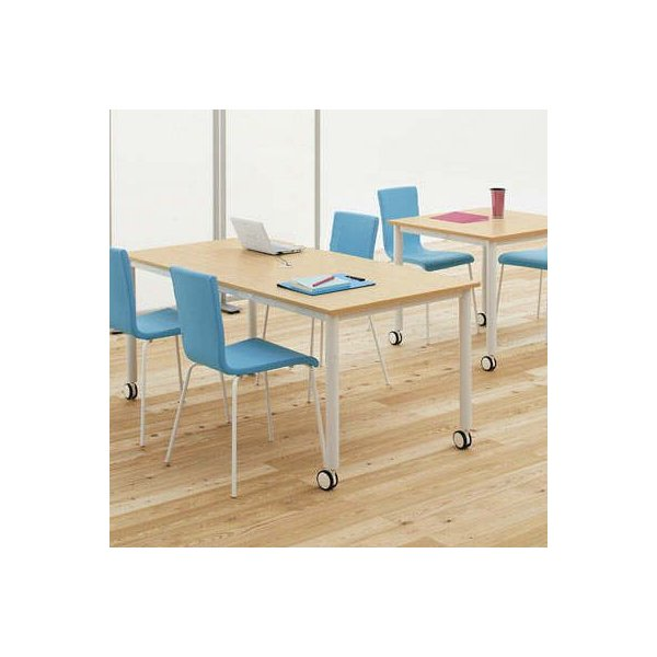 キャスター付テーブル/椅子4脚セット RFCTT-WL1680 送料無料 ミーティングテーブルセット 4人|garage-murabi
