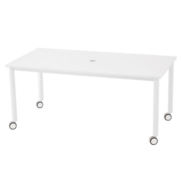キャスター付テーブル/椅子4脚セット RFCTT-WL1680 送料無料 ミーティングテーブルセット 4人|garage-murabi|02