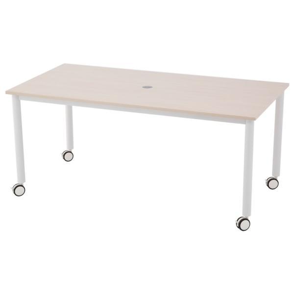キャスター付テーブル/椅子4脚セット RFCTT-WL1680 送料無料 ミーティングテーブルセット 4人|garage-murabi|03