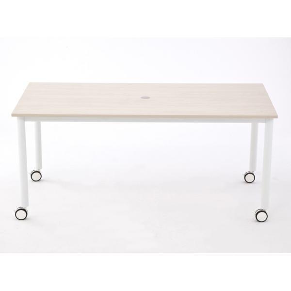 キャスター付テーブル/椅子4脚セット RFCTT-WL1680 送料無料 ミーティングテーブルセット 4人|garage-murabi|04