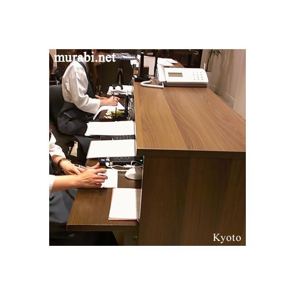 弊社オリジナル【ウォルナット】受付カウンター ハイカウンターW1200とインナーテーブル2点セット おしゃれ オフィス 執務タイプ RFHC-1200DM MBIT-1200DM|garage-murabi|03