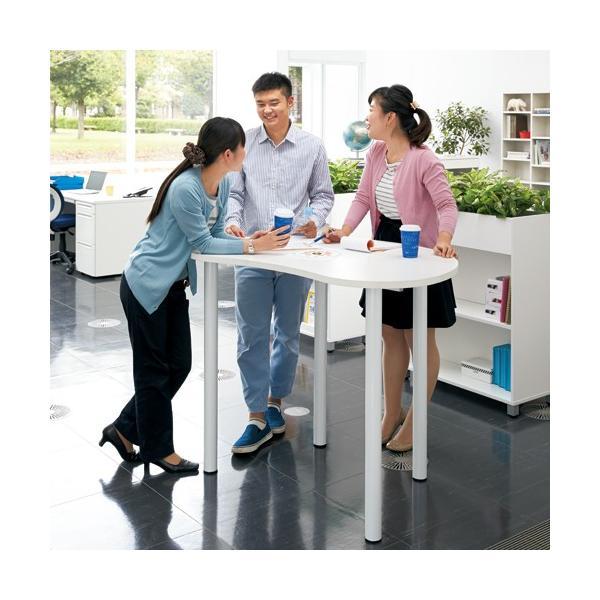 ビーンズ型 ハイテーブル RFHMT-BN1280WJ リフレッシュテーブル 送料無料 J869317|garage-murabi|04