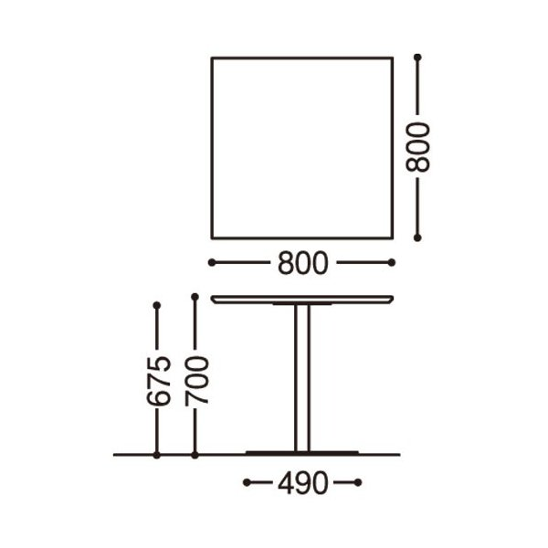 在庫切:角テーブル RFRT-800SN (木目) カフェスペース 角型テーブル リフレッシュテーブル J337998|garage-murabi|05