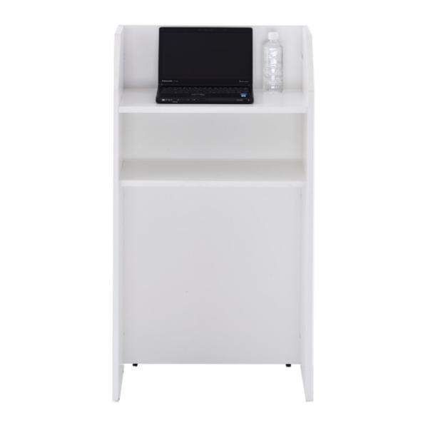 演説台  教壇、教卓にも   ホワイト 2色  W600×H1100 SHEN-WH J869315 garage-murabi 03