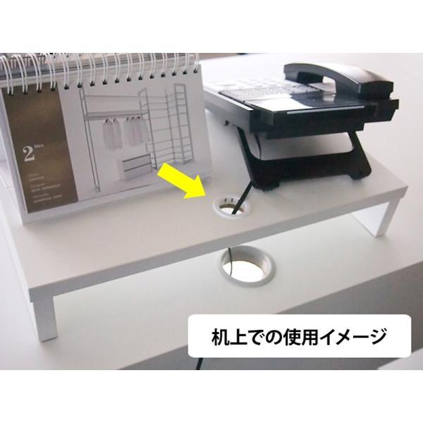 机上PCラックSH W600 ホワイト SHPC-60W 机上整理 パソコン台 机上台 ラック 机上ラック パソコン置き PCラック|garage-murabi|03