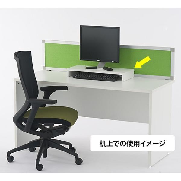 机上PCラックSH W600 ホワイト SHPC-60W 机上整理 パソコン台 机上台 ラック 机上ラック パソコン置き PCラック|garage-murabi|04