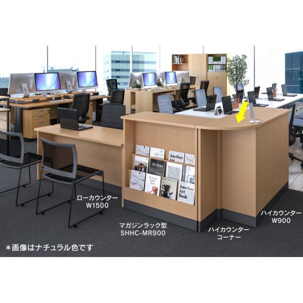 受付カウンター コーナー ハイカウンター ダーク MZ-SHHC-CND 業務用受付カウンター|garage-murabi|04