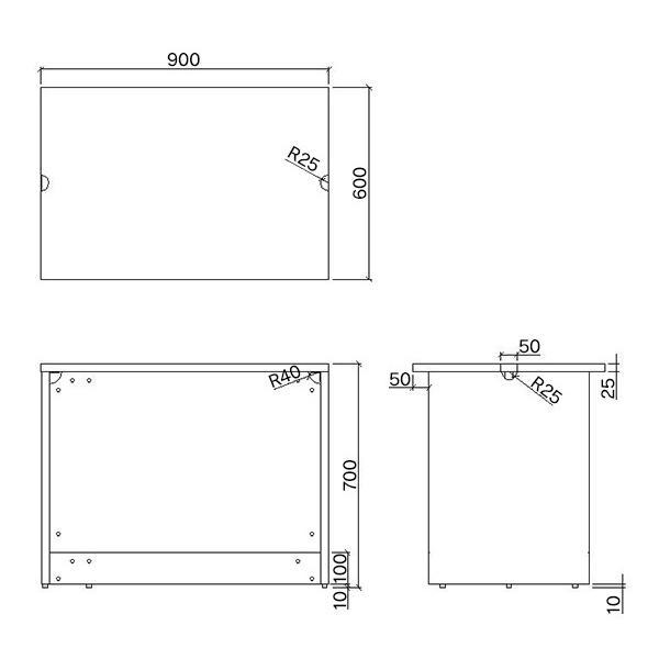 ノルム ローカウンターII 【ホワイト】W900×D600×H700mm 木製 受付カウンター 業務用 クリニック 対面式カウンターデスク おしゃれ Z-SHLC-900WH2|garage-murabi|05