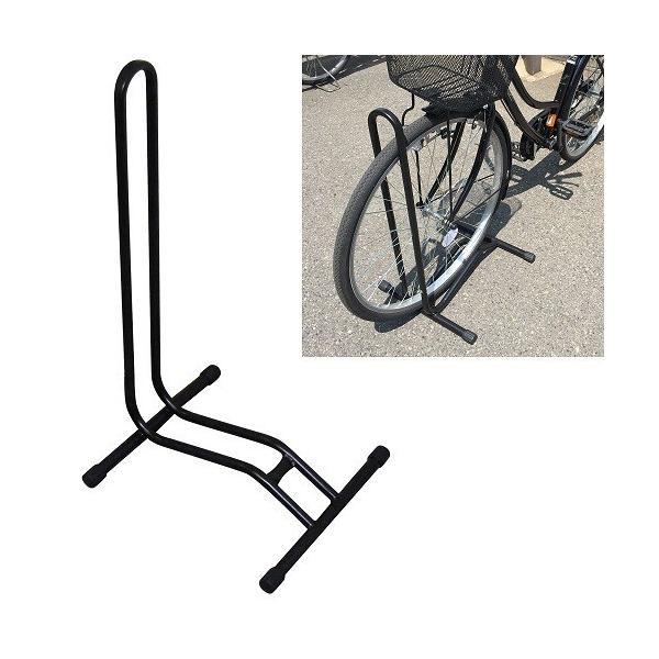 ガレージ・ゼロ自転車スタンド停め置きL字型ブラック