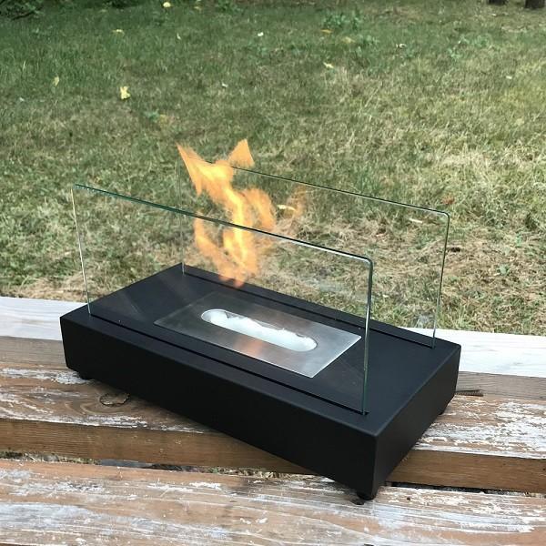 |ガレージ・ゼロ バイオエタノール暖炉 長方形  ブラック(屋内・屋外両用)