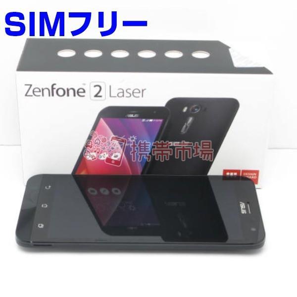 SIMフリー SIMフリー ZenFone 2 Laser (ZE500KL) 16GB ブラック  スマホ 中古  美品 保証あり ABランク 本体 白ロム  あすつく対応 携帯電話 0913 KIZ|garakei