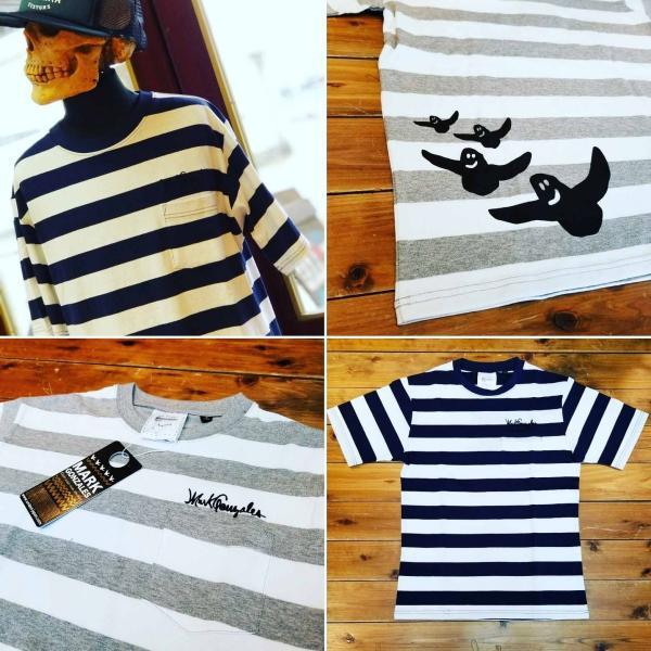 マークゴンザレス Mark Gonzales ボーダーポケットTシャツ 半袖|garakuta-ga