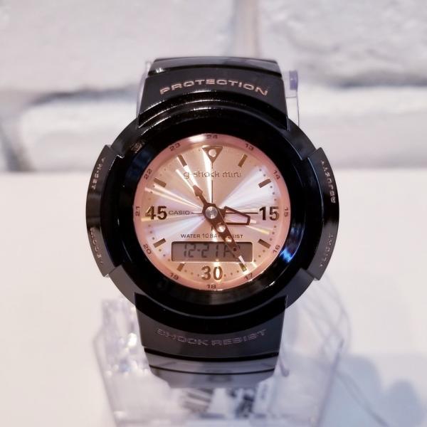 g-shock mini 腕時計 GMN-500-1B3JR ジーショック ミニ Gショック G-ショック カシオ CASIO ブラック×ピンクゴールド garakuta-ga 02