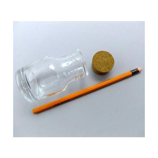ガラス瓶 コルク瓶 GAオリジナル 501xx 麻ひも付 〈35×31×20〉-3本セット- garasubin 02