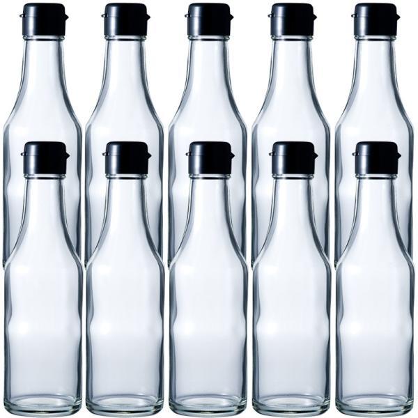 ガラス瓶 ドレッシング・タレ瓶 SH200B 214ml -10本セット-