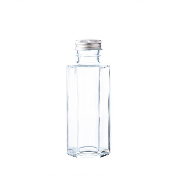 ハーバリウム、ドレッシング、タレ、オイルなどで使える ガラス瓶・透明瓶・角瓶 SSF-100A 114ml