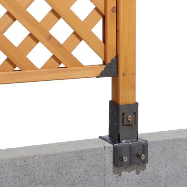 ラティス用柱固定金具 15cmブロック用 TKP-05 /梱包サイズ小|garden|03